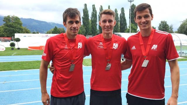 Oliver Meister, Florian Schwarb und Joël Flury an der Staffel SM 2018