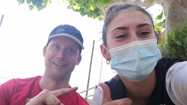 Valentina Rosamilia mit Trainer Georg Schärer