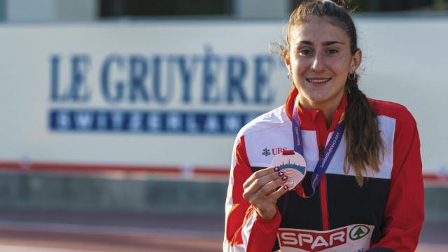 Valentina Rosamilia mit ihrer Bronzemedaille