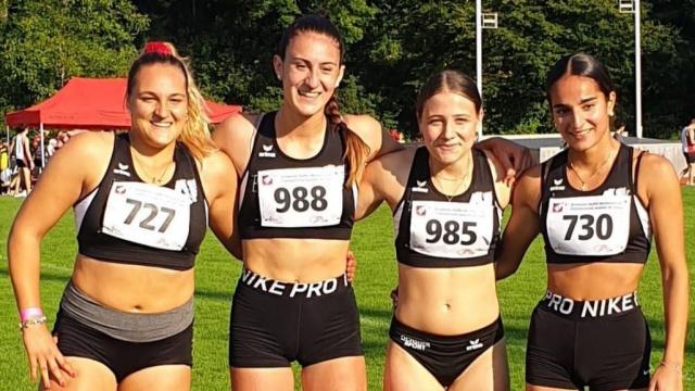 U20-Schweizer Rekordstaffel: v.l.n.r. Freda, Rosamilia, Fiore, Tan